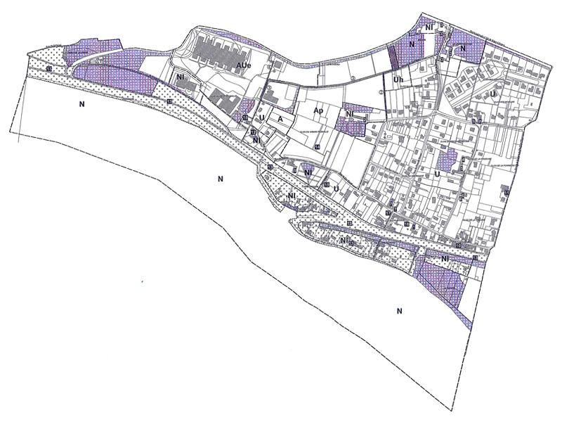 Mairie Combleux, PLU plan de zonage