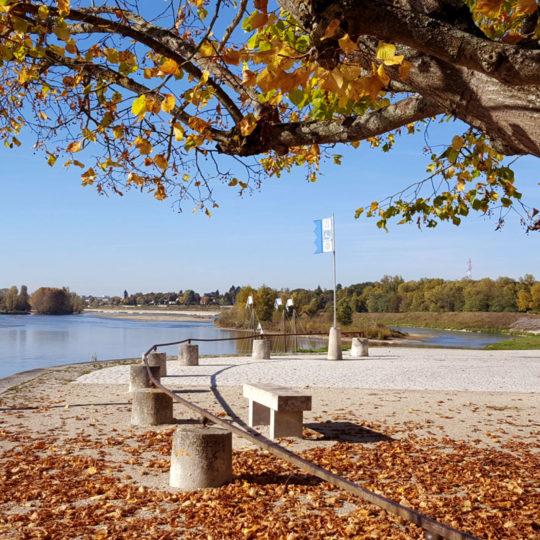 Mairie de Combleux paysage d'automne